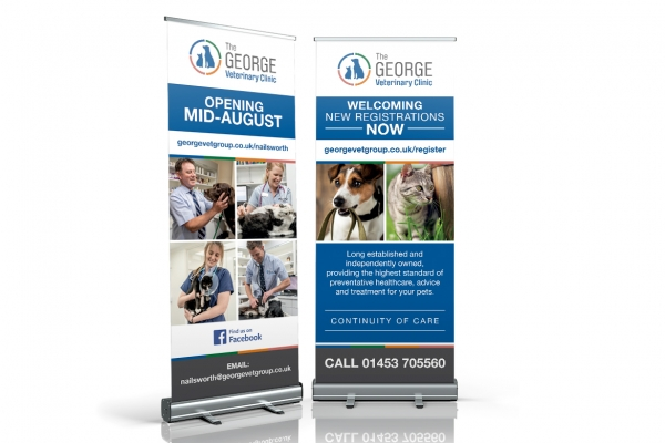 The George Vets Roller Banners